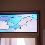 ステンドグラスパネル(雲)勝手口上窓