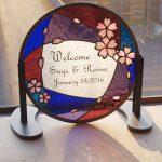 円形桜のウェルカムボード