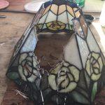 ステンドグラスランプの修理
