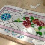 ステンドグラス製作〜ガラス削り〜