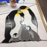 ステンドグラスのペンギン