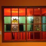 ステンドグラスの建具の納品