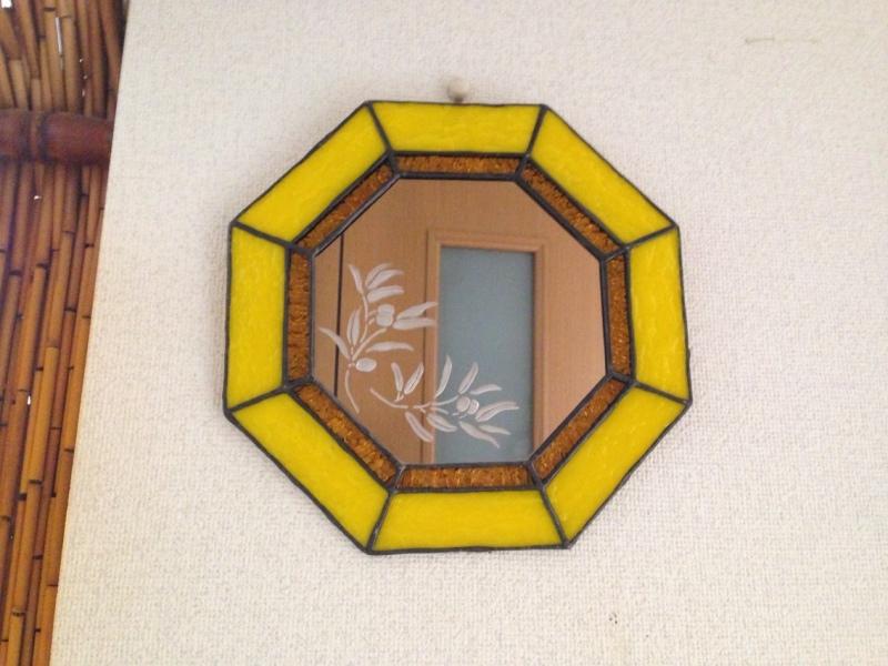 ステンドグラスの鏡
