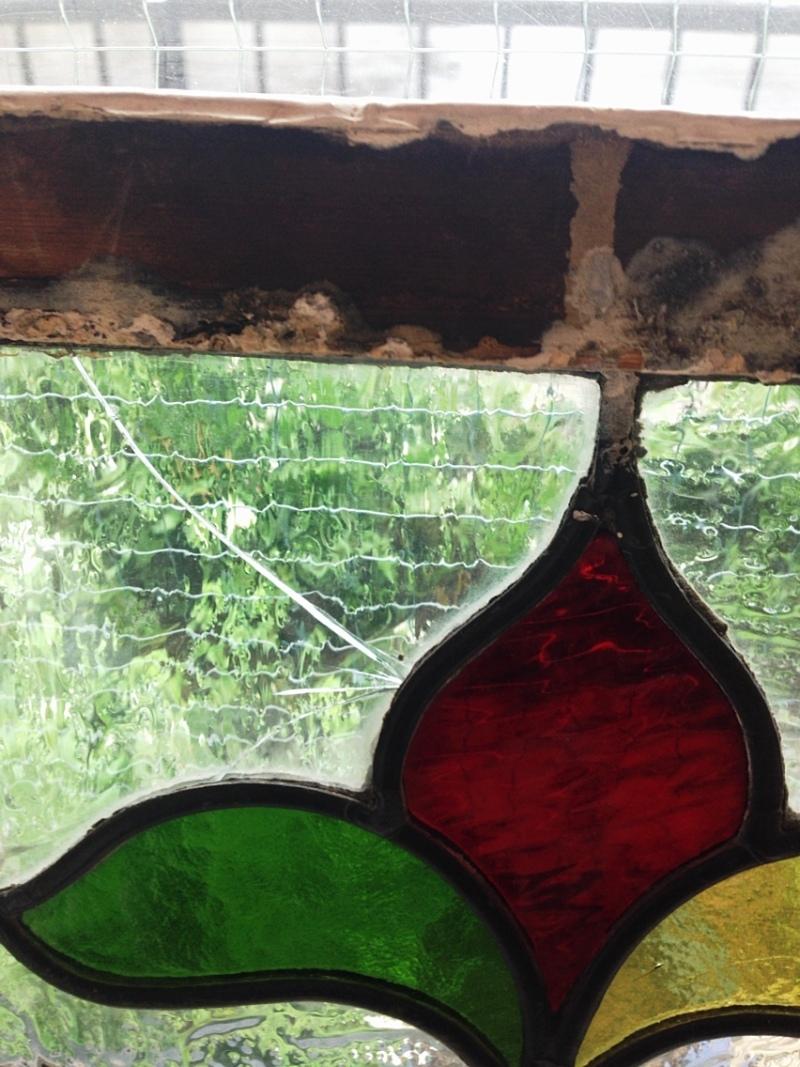 ステンドグラスの修理