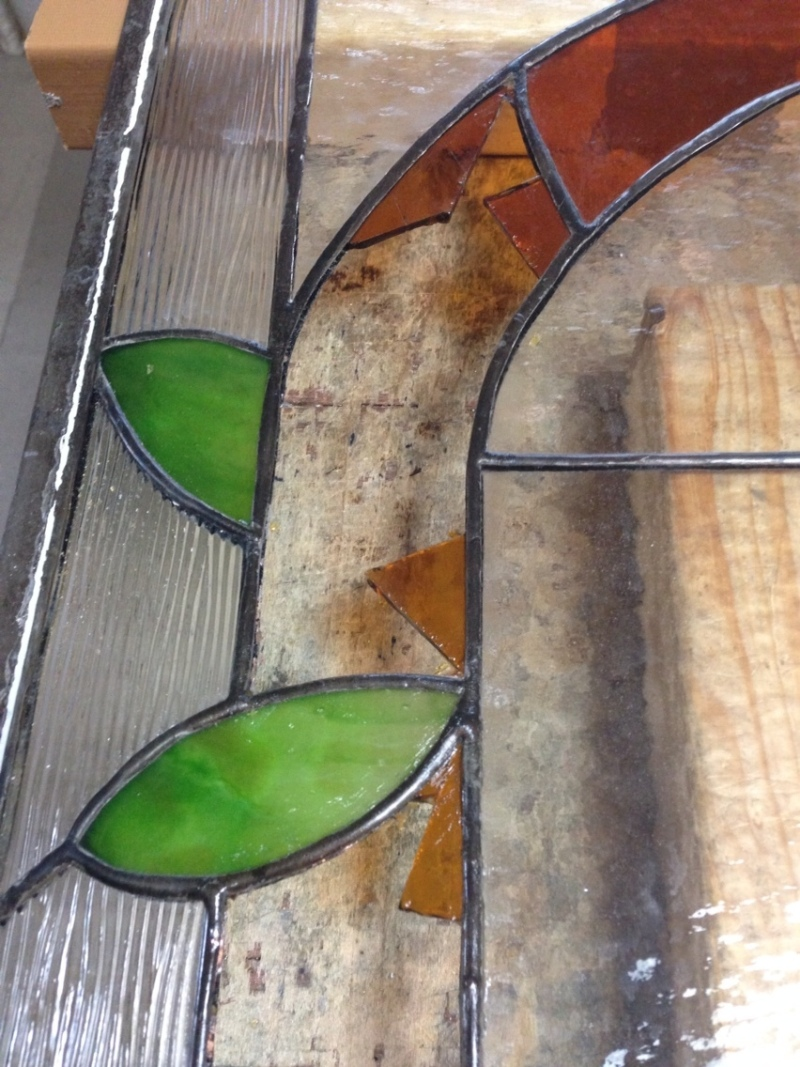 ステンドグラス修理