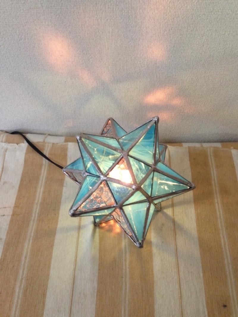 ステンドグラスランプ星型