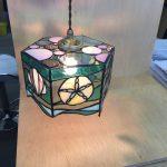 生徒さんの作品。海を題材にしたランプ