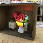 生徒さんの作品。バラのフットランプ