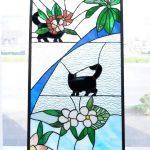 生徒作品ステンドグラスの猫