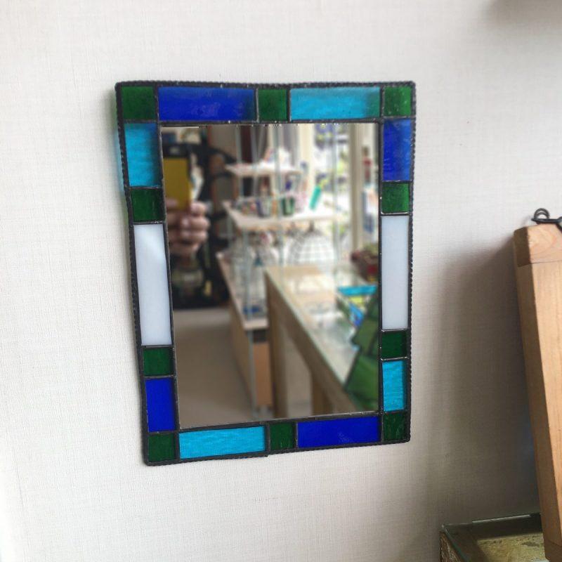 生徒作品ステンドグラスの鏡
